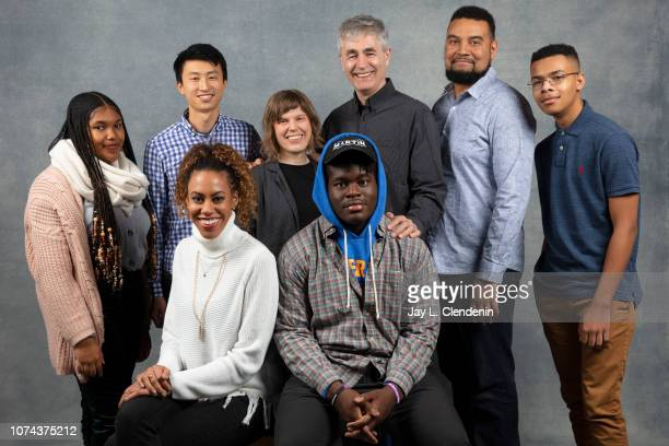 Jada Buford Jess Stovall Bing Liu Rebecca Parrish Kendale McCoy Steve James Kevin Shaw and Grant Lee from America to Me are photographed for Los...