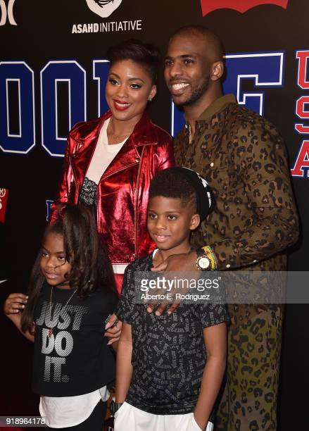 Jada Crawley Camryn Alexis Paul Christopher Emmanuel Paul and Chris Paul attends the 2018 Rookie USA Show at Milk Studios on February 15 2018 in Los...