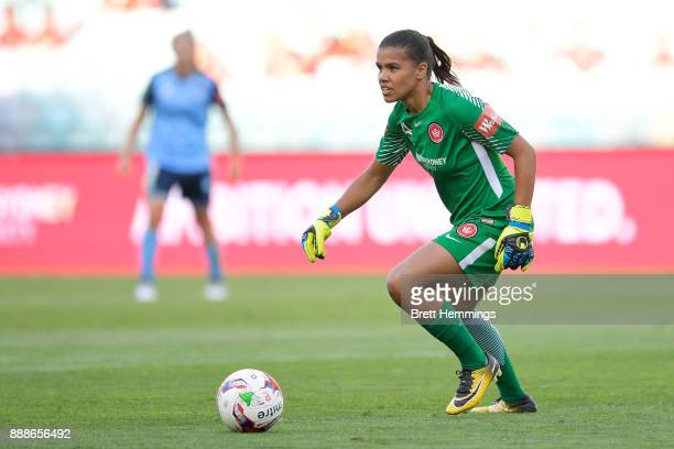 Jada MathyssenWhyman of the Wanderers controls the ball during the WLeague match between the Western Sydney Wanderers and Sydney FC at ANZ Stadium on...