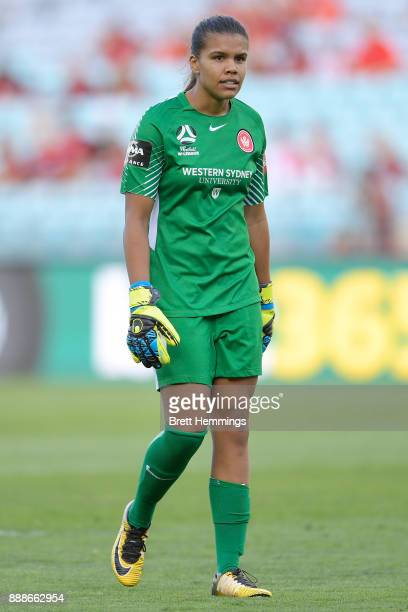 Jada MathyssenWhyman of the Wanderers looks on during the WLeague match between the Western Sydney Wanderers and Sydney FC at ANZ Stadium on December...