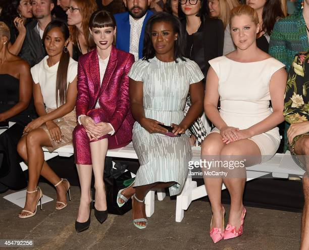 Jada Pinket Smith Coco Rocha Uzo Aduba and Amy Schumer attend Christian Siriano during MercedesBenz Fashion Week Spring 2015 at Eyebeam Atelier on...