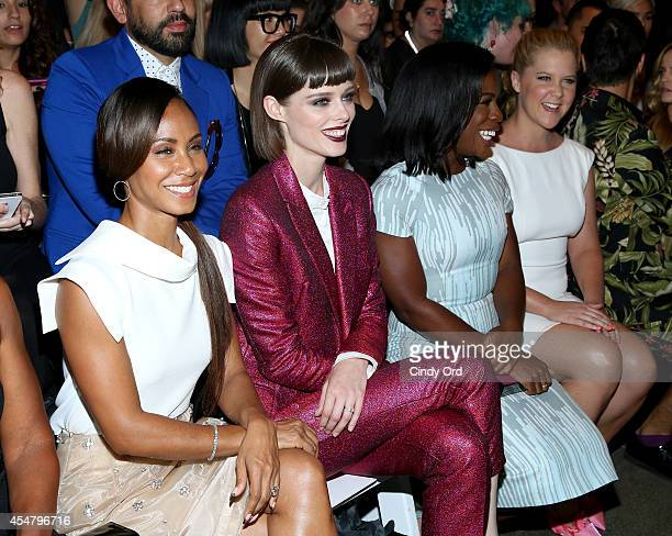 Jada Pinket Smith Coco Rocha Uzo Aduba and Amy Schumer attend the Christian Siriano fashion show during MercedesBenz Fashion Week Spring 2015 at...