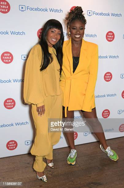 Jada Pinkett Smith and Clara Amfo attend the Facebook Watch: Red Table Talk screening, hosted by Jada Pinkett Smith, at The Ham Yard Hotel on August...