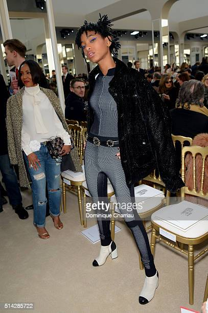 Jada Pinkett Smith and her daughter Willow Smith attend the Chanel show as part of the Paris Fashion Week Womenswear Fall/Winter 2016/2017 on March 8...