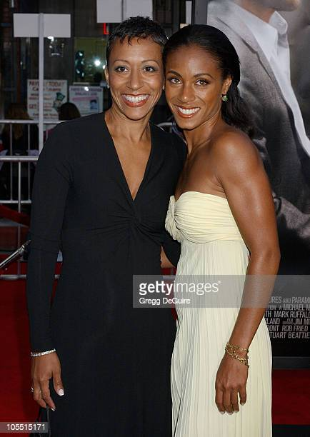 Jada Pinkett Smith and mom Adrienne during 'Collateral' Los Angeles Premiere Arrivals at Orpheum Theatre in Los Angeles California United States