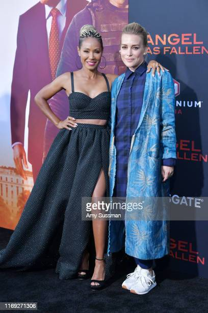 """Jada Pinkett Smith and Piper Perabo attend the LA Premiere of Lionsgate's """"Angel Has Fallen"""" at Regency Village Theatre on August 20, 2019 in..."""
