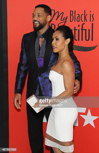Jada Pinkett Smith and Will Smith attend the BET's Black Girls Rock Red Carpet sponsored by Chevrolet at NJPAC – Prudential Hall on March 28 2015 in...