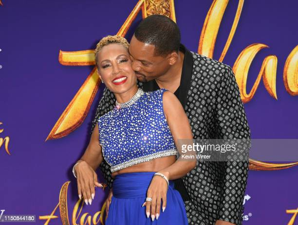 Jada Pinkett Smith and Will Smith attends the premiere of Disney's Aladdin at El Capitan Theatre on May 21 2019 in Los Angeles California
