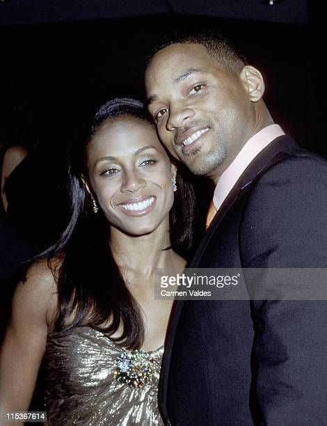 Jada Pinkett Smith and Will Smith during 2002 Tree of Life Awards at Beverly Wilshire Hotel in Beverly Hills California United States