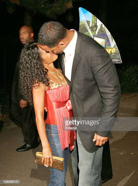 Jada Pinkett Smith and Will Smith during Shark Tale New York Premiere Arrivals at Delacorte Theatre Central Park in New York City New York United...