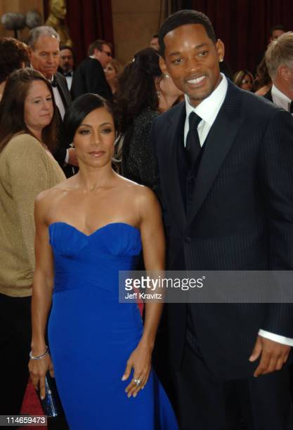 Jada Pinkett Smith and Will Smith during The 78th Annual Academy Awards Red Carpet at Kodak Theatre in Hollywood California United States