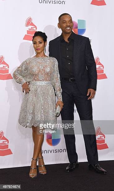 Jada Pinkett Smith and Will Smith pose backstage during the 16th Latin GRAMMY Awards on November 19 2015 in Las Vegas Nevada