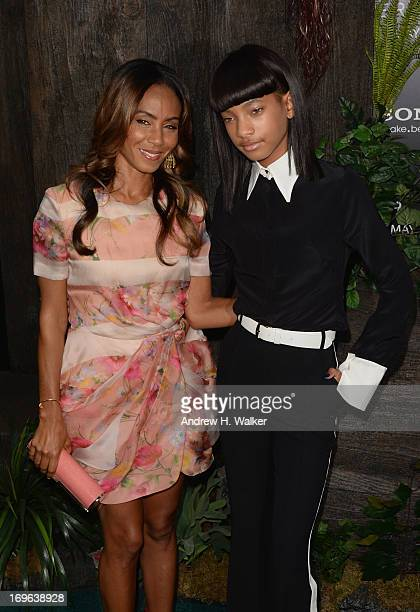 Jada Pinkett Smith and Willow Smith attend the After Earth premiere at Ziegfeld Theater on May 29 2013 in New York City