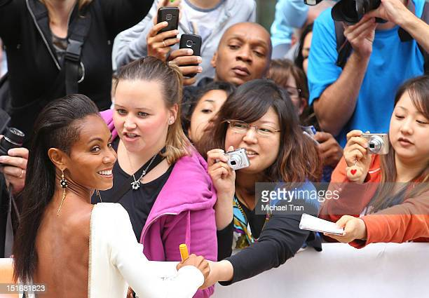 Jada Pinkett Smith arrives at Free Angela All Political Prisoners premiere during the 2012 Toronto International Film Festival held at Roy Thomson...