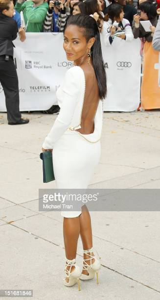 Jada Pinkett Smith arrives at 'Free Angela All Political Prisoners' premiere during the 2012 Toronto International Film Festival held at Roy Thomson...