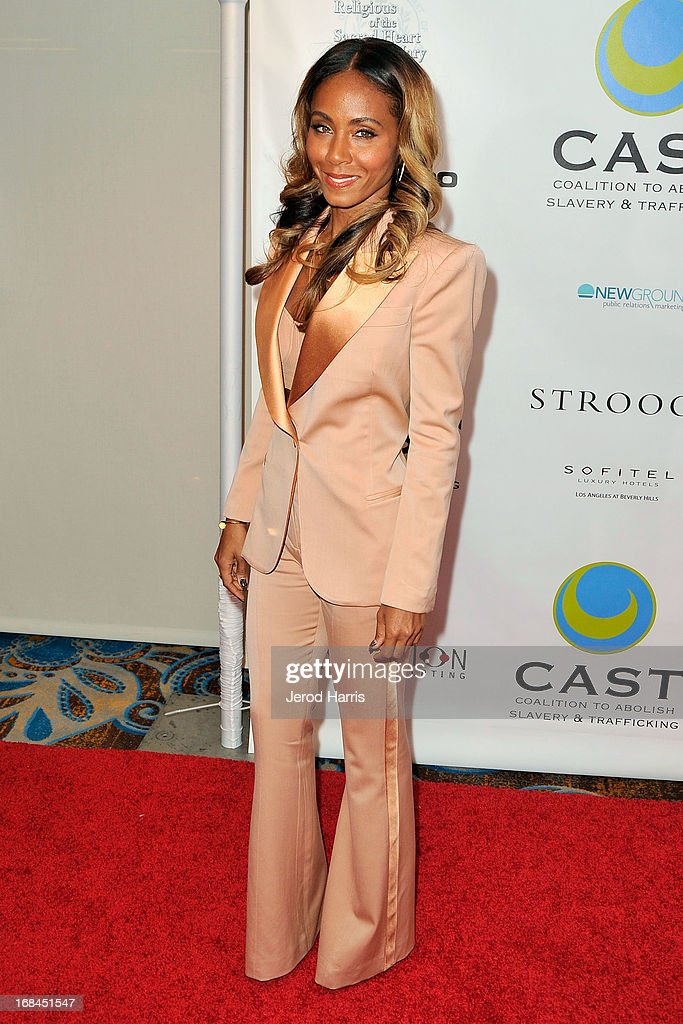 Jada Pinkett Smith arrives at the Coalition To Abolish Slavery and Trafficking's 15th Annual From Slavery to Freedom gala at the Sofitel Hotel on May 9, 2013 in Los Angeles, California.