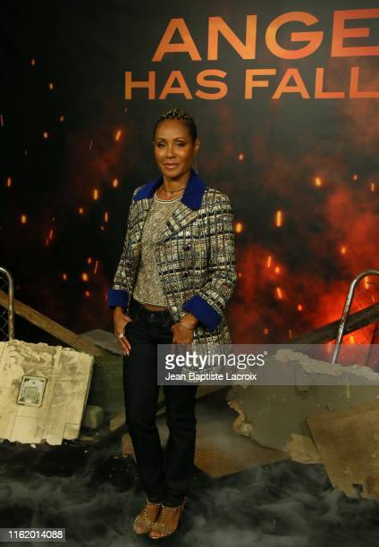 Jada Pinkett Smith attends a photocall for Lions Gate's Angel Has Fallen at the Beverly Wilshire Four Seasons Hotel on August 16 2019 in Beverly...