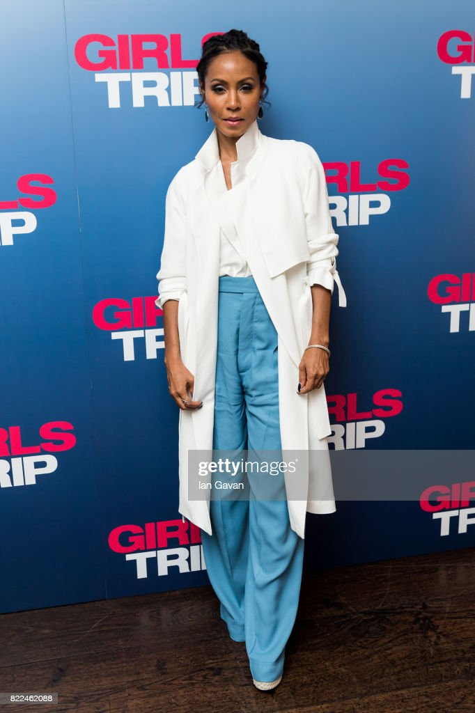 Jada Pinkett Smith attends a special screening of Girls Trip at the Soho Hotel on July 25, 2017 in London, England.