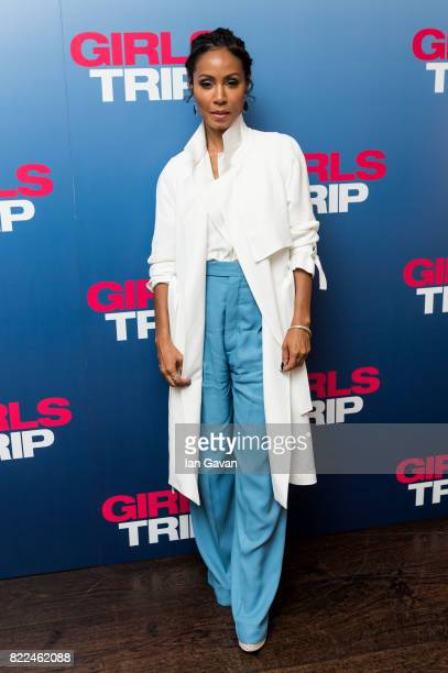 Jada Pinkett Smith attends a special screening of Girls Trip at the Soho Hotel on July 25 2017 in London England