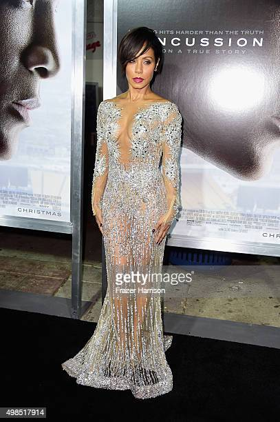 Jada Pinkett Smith attends Columbia Pictures screening of Concussion at Regency Village Theatre on November 23 2015 in Westwood California