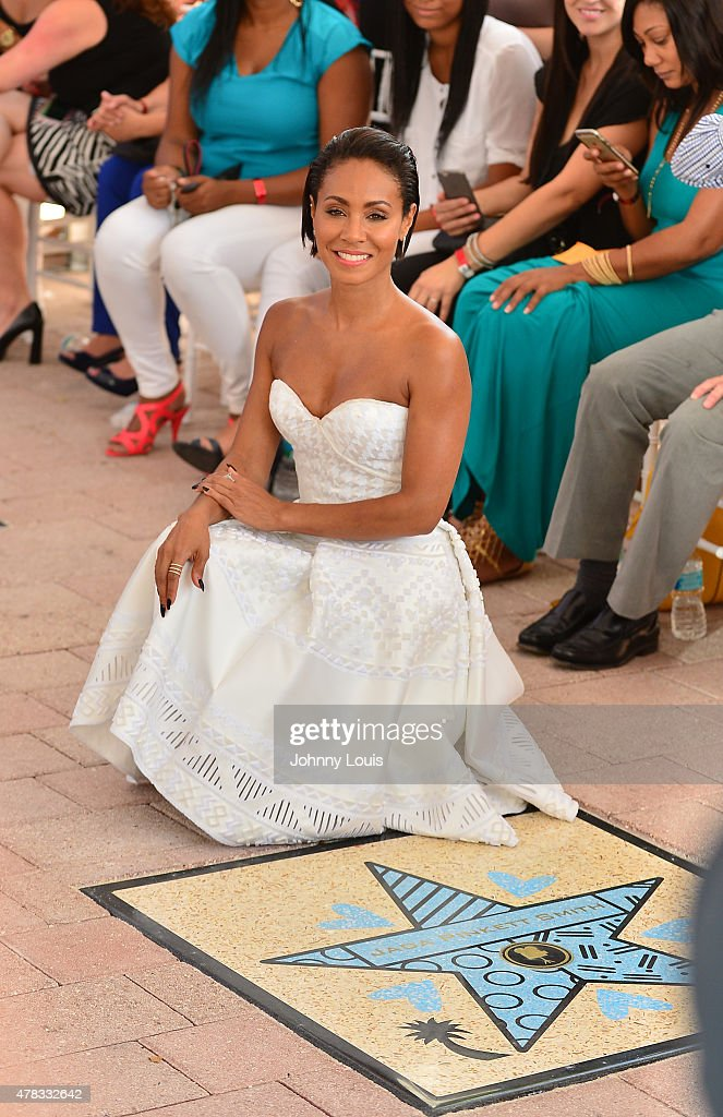 Jada Pinkett Smith attends Magic Mike XXL cast honored with stars on The Official Miami Walk Of Fame at Bayside Marketplace on June 24, 2015 in Miami, Florida.