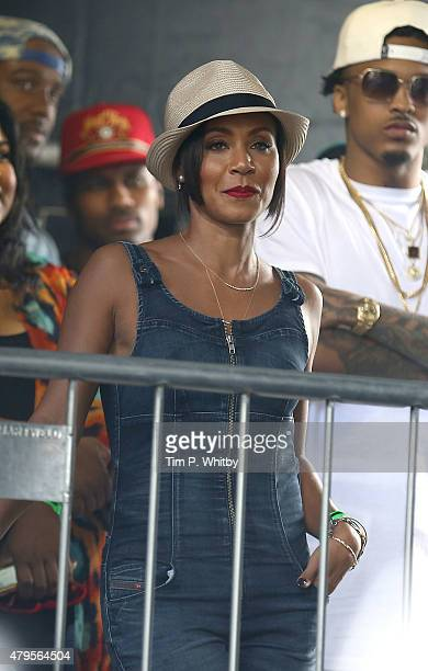 Jada Pinkett Smith attends on day 3 of the New Look Wireless Festival at Finsbury Park on July 5, 2015 in London, England.