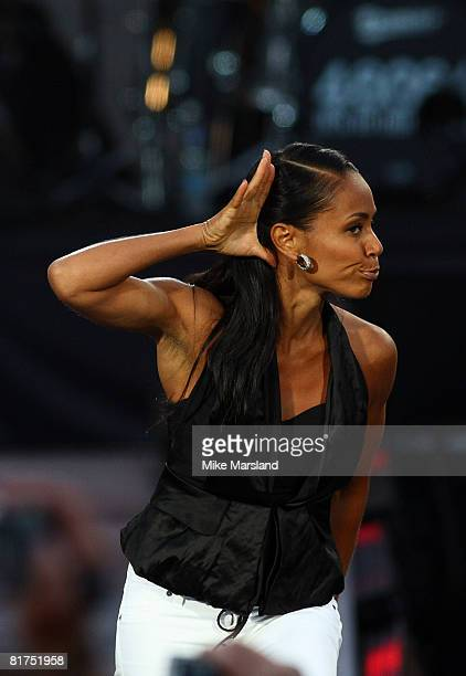 Jada Pinkett Smith attends the 46664 Concert part of Nelson Mandela 90th birthday celebrations on 27 June 2008 in Hyde Park London England