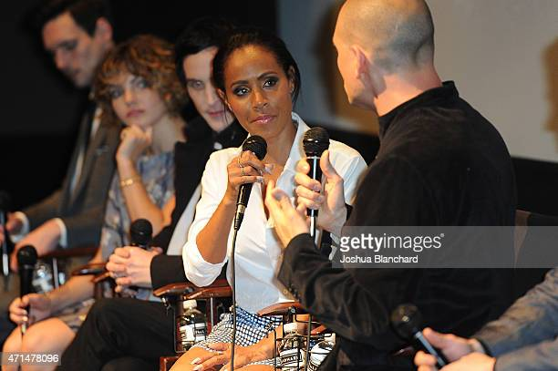 Jada Pinkett Smith attends the Awardsline/Deadline Hollywood Screening of Fox's 'Gotham' at Landmark Theatre on April 28 2015 in Los Angeles...