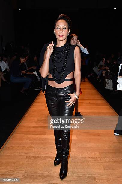Jada Pinkett Smith attends the Barbara Bui show as part of the Paris Fashion Week Womenswear Spring/Summer 2016 on October 1 2015 in Paris France