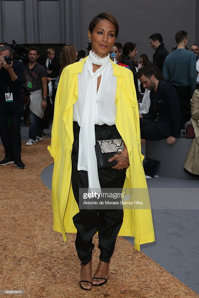 Jada Pinkett Smith attends the Chloe show as part of the Paris Fashion Week Womenswear Spring/Summer 2016 on October 1, 2015 in Paris, France.