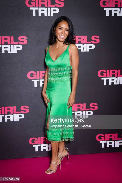 Jada Pinkett Smith attends the 'Girls Trip' Paris Premiere at UGC Cine Cite Bercy on November 20 2017 in Paris France