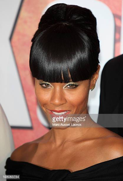 Jada Pinkett Smith attends 'The Karate Kid' Premiere at Le Grand Rex on July 25 2010 in Paris France