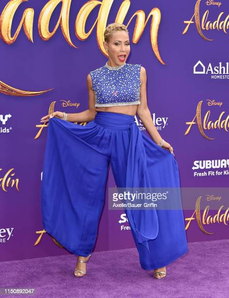 Jada Pinkett Smith attends the premiere of Disney's Aladdin on May 21 2019 in Los Angeles California