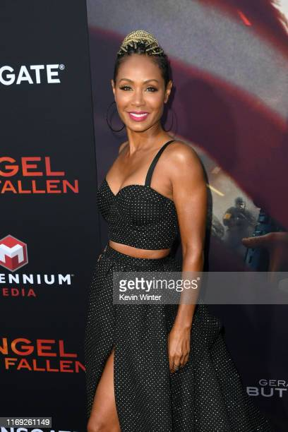 "Jada Pinkett Smith attends the LA Premiere of Lionsgate's ""Angel Has Fallen"" at Regency Village Theatre on August 20, 2019 in Westwood, California."