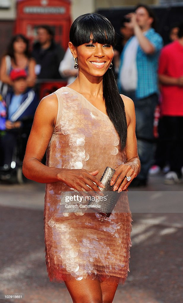 Jada Pinkett Smith attends the UK Film Premiere of The Karate Kid at Odeon Leicester Square on July 15, 2010 in London, England.