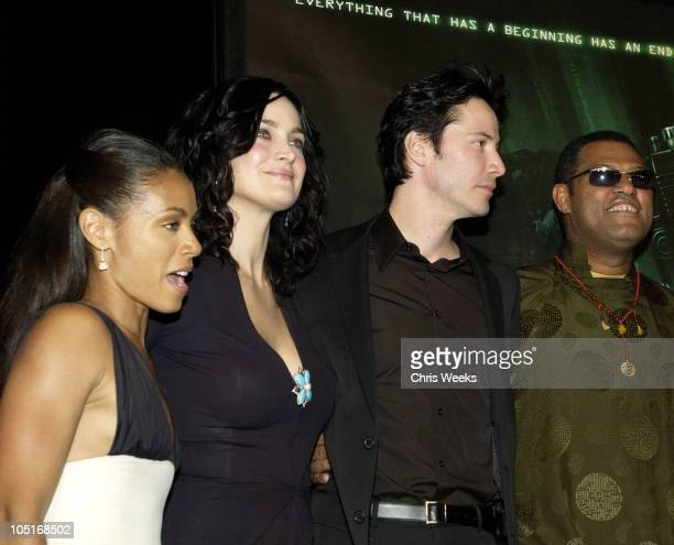 Jada Pinkett Smith CarrieAnne Moss Keanu Reeves and Laurence Fishburne
