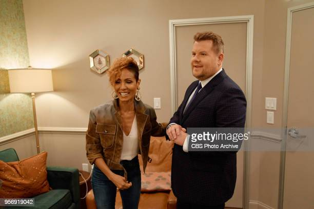 Jada Pinkett Smith chats in the green room with James Corden during 'The Late Late Show with James Corden' Friday May 4 2018 On The CBS Television...