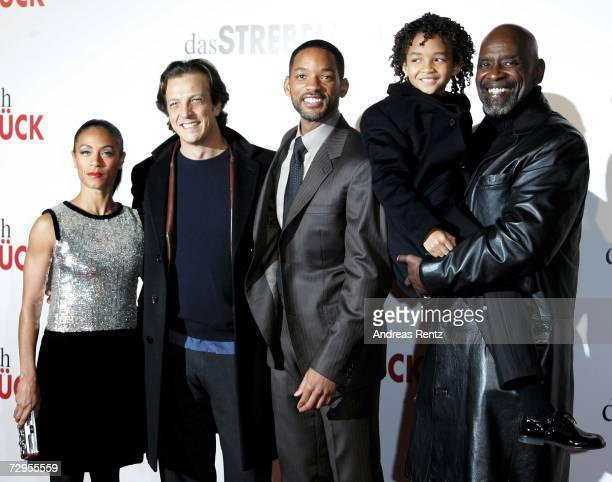 Jada Pinkett Smith director Gabriele Muccino actor Will Smith son Jaden Smith and Chris Gardner attend The Pursuit of Happyness German Premiere on...