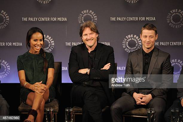 Jada Pinkett Smith Donal Logue and Ben McKenzie attend the 2nd annual Paleyfest New York Presents 'Gotham' at Paley Center For Media on October 18...