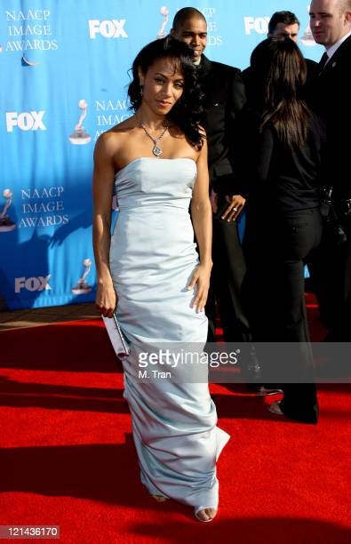 Jada Pinkett Smith during 38th Annual NAACP Image Awards - Arrivals at Shrine Auditorium in Los Angeles, California, United States.