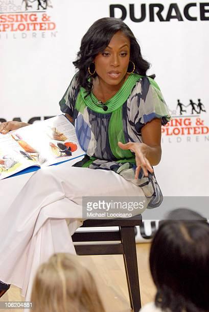 Jada Pinkett Smith during Jada Pinkett Smith NCMEC and Duracell's Power of Parents Launch May 2 2007 at Preschool of America in New York City New...