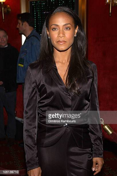 Jada Pinkett Smith during Matrix Reloaded New York Premiere Inside Arrivals at Ziegfeld Theater in New York City New York United States