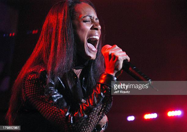 Jada Pinkett Smith during Rock The Vote 2004 National Bus Tour Concert June 16 2004 at Avalon in Hollywood California United States