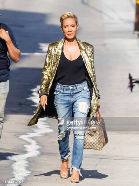 Jada Pinkett Smith is seen arriving at 'Jimmy Kimmel Live' on June 05, 2019 in Los Angeles, California.