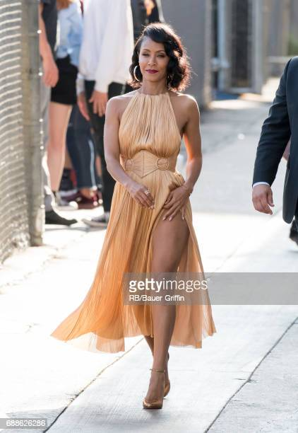 Jada Pinkett Smith is seen at 'Jimmy Kimmel Live' on May 25 2017 in Los Angeles California