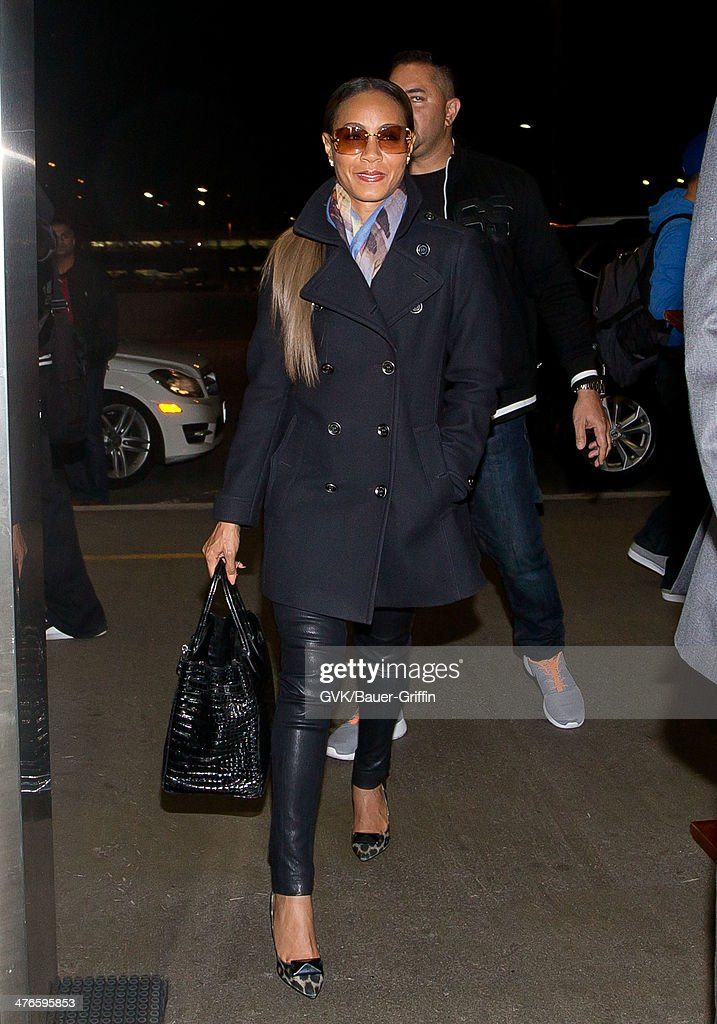 96d7e6a92b7 Jada Pinkett Smith is seen at LAX airport on March 03, 2014 in Los ...