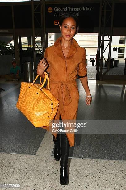 Jada Pinkett Smith is seen at LAX on October 25 2015 in Los Angeles California