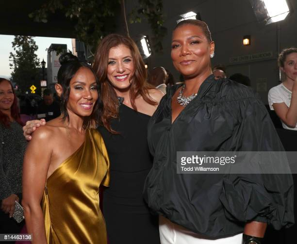 Jada Pinkett Smith Kate Walsh and Queen Latifah attend the Premiere Of Universal Pictures' 'Girls Trip' at Regal LA Live Stadium 14 on July 13 2017...
