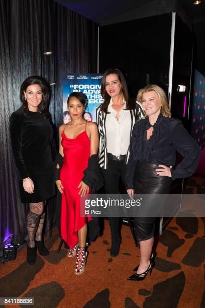 Jada Pinkett Smith meets Victoria Rees Krissy Marsh and Nicole O'Neill ahead of a VIP screening of GIRLS TRIP at Event Cinemas George Street on...