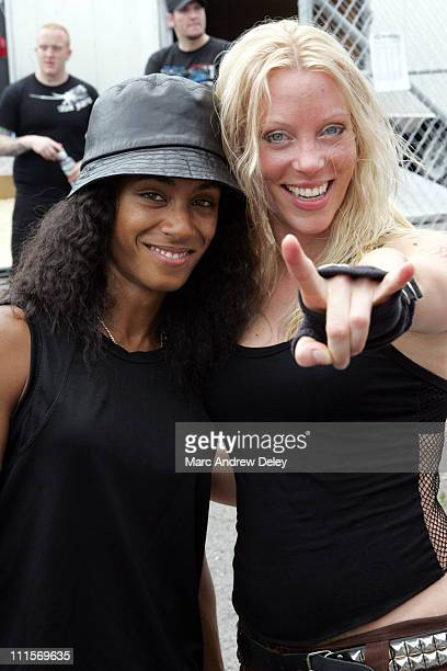Jada Pinkett Smith of Wicked Wisdom and Angela Gossow of Arch Enemy